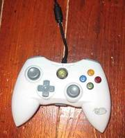 Xbox 360 Wired Controller,  White,  MadCatz