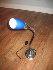 Searchlight Electric Table/Desk Lamp,  Blue Shade