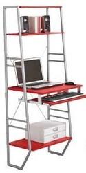NOVELTY DESIGN RED & METAL FRAME WALL COMPUTER DESK