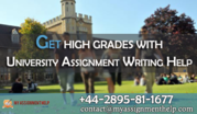 Get High Grades With University Assignment Writing Help