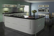 Lumi Dove Grey Gloss Kitchen Doors | Made to Measure Doors | Topdoors