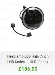 Landrover defender LED headlights